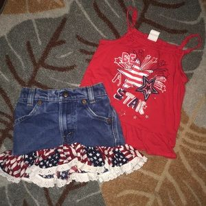 Levi's patriotic skirt